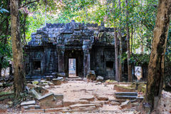 Ruins of ancient buddhist khmer temple Royalty Free Stock Photos