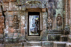 Ruins of ancient buddhist khmer temple Stock Image