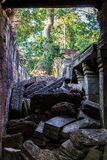 Ruins of ancient buddhist khmer temple near Royalty Free Stock Images
