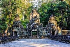Ruins of ancient buddhist khmer temple near Stock Photos