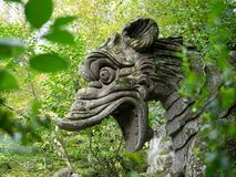 An ancient stone dragon stock photography