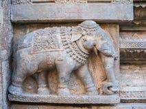 Ancient Stone Elephant. Royalty Free Stock Photo