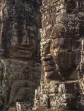 Ancient stone face of Bayon temple Royalty Free Stock Photography