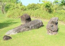 Stone faces Stock Photo