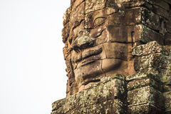 Ancient stone faces of Bayon temple, Angkor, Cambodia Royalty Free Stock Image