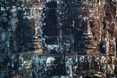 Ancient stone faces of Bayon temple, Angkor, Cambodia Royalty Free Stock Photography
