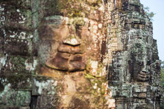 Ancient stone faces of Bayon temple, Angkor, Cambodia Stock Photography