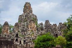 Ancient stone faces of Bayon temple, Angkor, Cambodia Stock Photography