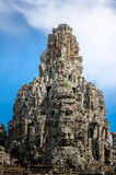 Ancient stone faces Bayon temple in Angkor Thom Royalty Free Stock Photo