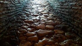 Ancient stone floor in the Hagia Sophia - Istanbul, Turkey Royalty Free Stock Photography