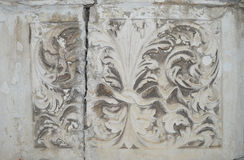 Ancient stone flower pattern, texture Royalty Free Stock Photo