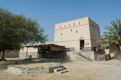 Ancient stone fort in arabian village Royalty Free Stock Images