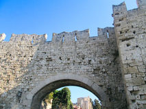 Ancient stone fortification. Arch doorway Royalty Free Stock Photography