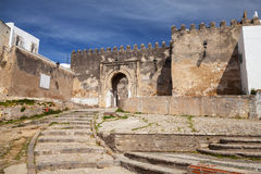 Ancient stone fortress in Madina. Old Tangier, Morocco Stock Photography