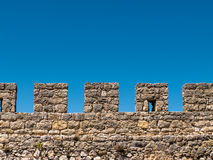 Ancient Stone Fortress Wall Stock Images