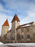 Ancient stone fortress walls with towers. Tallinn Stock Photo