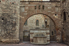 Ancient stone fountain in Perugia Royalty Free Stock Photo