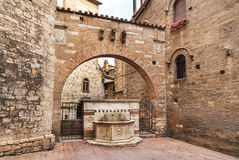 Ancient stone fountain in Perugia, Italy Royalty Free Stock Image