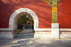 Ancient stone gate in beijing park, Beijing Stock Photos