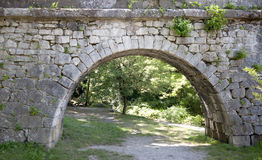 Ancient stone gate. Royalty Free Stock Image