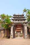 Ancient stone gate in Minh Mang Tomb, Hue, Vietnam. Ancient stone gate in Imperial Minh Mang Tomb of the Nguygen dynasty in Hue, Vietnam. UNESCO world heritage Royalty Free Stock Images