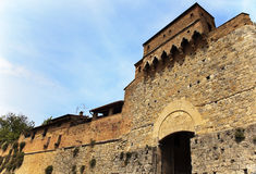 Ancient Stone Gate Medieval Town San Gimignano Stock Images