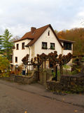 The ancient stone house in Germany. The ancient stone house in mountains of Germany Royalty Free Stock Images