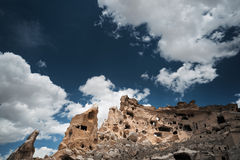 Ancient stone houses of Cappadocia Royalty Free Stock Photo