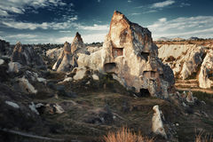 Ancient stone houses of Cappadocia Royalty Free Stock Photography