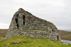 Ancient stone housing in scotland Royalty Free Stock Images