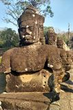 Statues in Angkor Wat in Cambodia royalty free stock image