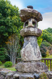 Ancient Stone Lanter at Toji Temple in Kyoto, Japan Stock Images
