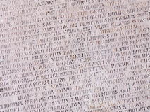 Ancient stone with Latin text Royalty Free Stock Image