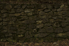 Ancient stone nexture. Old stone texture in abandoned building Stock Photography