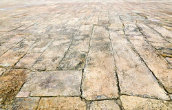 Ancient stone pavement Royalty Free Stock Photos