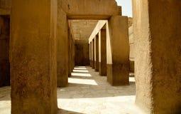 Ancient stone pillars underneath Spinx Royalty Free Stock Photo