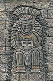Ancient stone relief. Stone relief depicting ancient Mexican king Royalty Free Stock Photos
