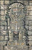 Ancient stone relief 2. Stone relief depicting ancient Mexican king Royalty Free Stock Photo