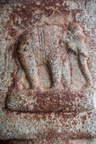 Ancient Stone Relief of Elephant at Indian Temple Royalty Free Stock Image