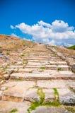 Ancient stone road Stock Photos
