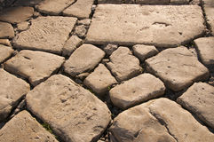Ancient stone road Royalty Free Stock Images