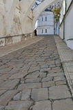 Ancient stone road to Uspensky cathedral in Kiev-P stock image