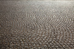 Ancient stone roadbed as background Stock Photos