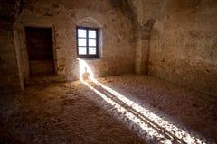 Ancient stone room interior Royalty Free Stock Photo