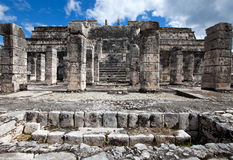 Ancient stone ruins.ancient stone ruins.Mexico Royalty Free Stock Photo