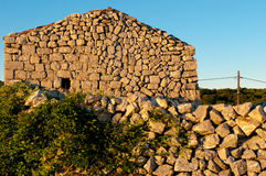 Ancient stone ruins at Lubenice in Cres Royalty Free Stock Photos