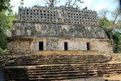 Ancient Mayan ruins at Yaxchilan, Chiapas, Mexico Royalty Free Stock Image