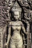 Ancient stone sculpture in Angkor Wat. Cambodia. Royalty Free Stock Photography
