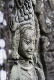 Ancient stone sculpture in Angkor Wat. Cambodia. Stock Images