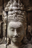 Ancient stone sculpture in Angkor Wat. Cambodia. Royalty Free Stock Image